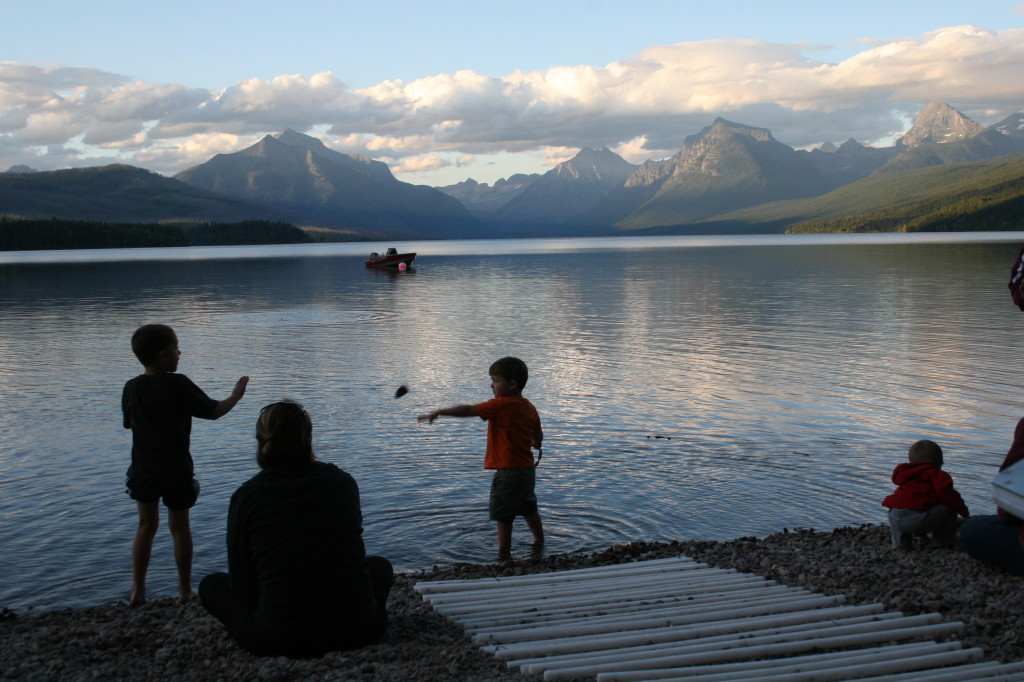Lake McDonald as sun sets
