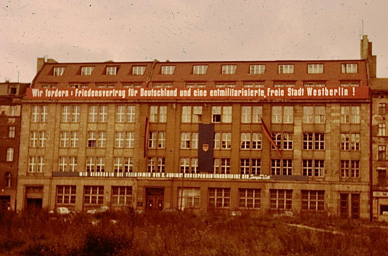 Building in East Berlin 1959.