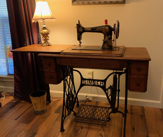 1918 treadle sewing machine
